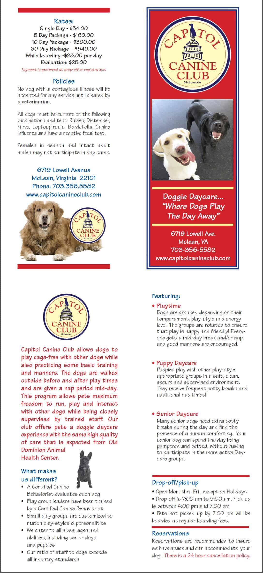2013 Brochure Capitol Canine Club