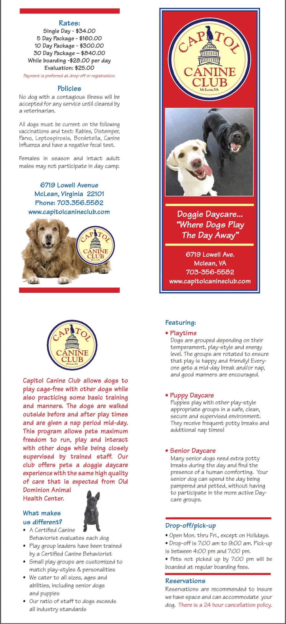 2013 Brochure Capitol Canine Club
